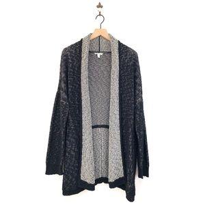 Eileen Fisher Black Open Front Cardigan Sweater L